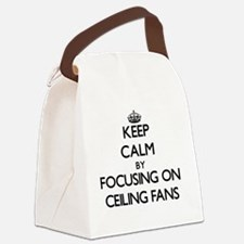 Keep Calm by focusing on Ceiling Canvas Lunch Bag