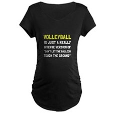 Volleyball Balloon Maternity T-Shirt