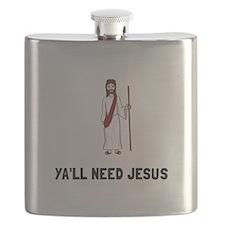 Yall Need Jesus Flask