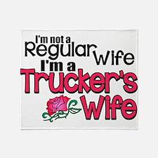 Not a Regular Wife - Trucker's Wife Throw Blanket