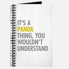 Its A Panda Thing Journal