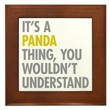 Its A Panda Thing Framed Tile