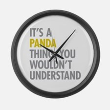 Its A Panda Thing Large Wall Clock