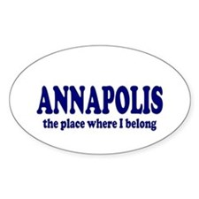 Annapolis Oval Decal