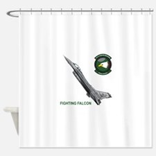 F-16_falcon_fighting.png Shower Curtain