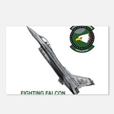 F-16_falcon_fighting.png Postcards (Package of 8)