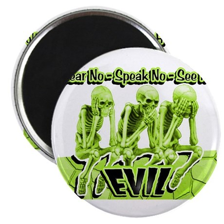 See-Speak-Hear-No EVIL Lime 2 Magnet