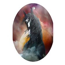 Fantasy Shire Horse Ornament (Oval)