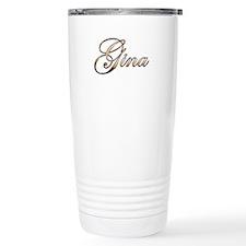 Gold Gina Travel Mug