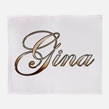 Gold Gina Throw Blanket