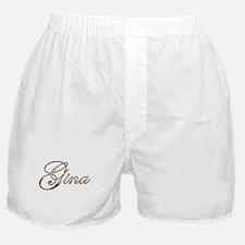 Gold Gina Boxer Shorts