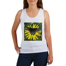 Black Swallowtail on Sunflower Tank Top