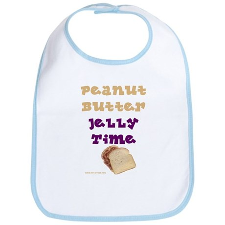 Peanut Butter Jelly Time Bib