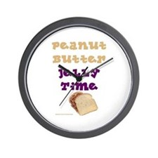 Peanut Butter Jelly Time Wall Clock