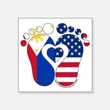 "Filipino American Baby Square Sticker 3"" x 3"""