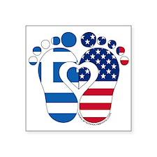 Greek American Baby Sticker