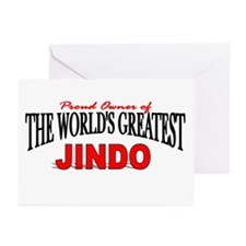 """""""The World's Greatest Jindo"""" Greeting Cards (Packa"""