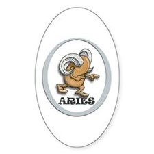 Aries Oval Bumper Stickers