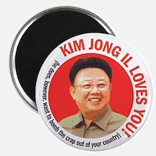 Kim Jong Il Loves You Magnet
