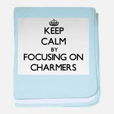 Keep Calm by focusing on Charmers baby blanket