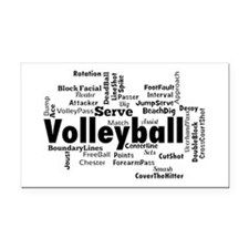 Volleyball Rectangle Car Magnet