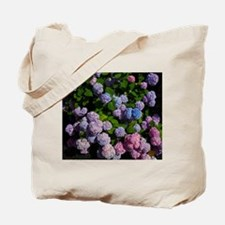 purple, blue, and pink hydrangeas Tote Bag