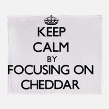 Keep Calm by focusing on Cheddar Throw Blanket