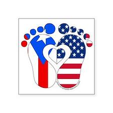 Puerto Rican American Baby Sticker