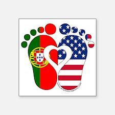 Portuguese American Baby Sticker