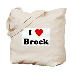 I Love Brock Tote Bag