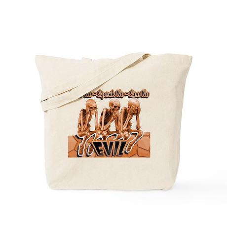See-Speak-Hear-No EVIL Orange 2 Tote Bag