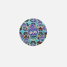 Cute Mexican sugar skulls Mini Button