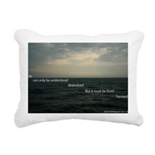 Life can only be underst Rectangular Canvas Pillow