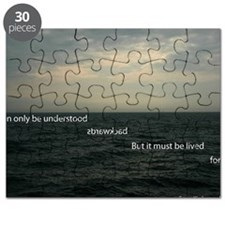 Life can only be understood backwards but i Puzzle