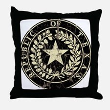Republic of Texas Seal Distressed Throw Pillow