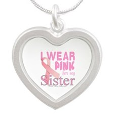 Breast Cancer Awareness sister Necklaces