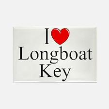 """""""I Love Longboat Key"""" Rectangle Magnet"""