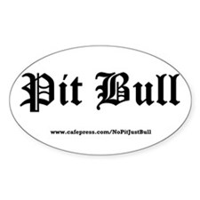 Oval Sticker - Pit Bull Gothic