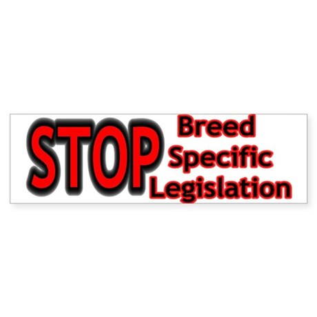 Bumper Sticker - Stop BSL