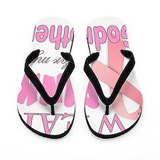 Breast cancer awareness Godmother Flip Flops
