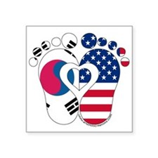 Korean American Baby Sticker