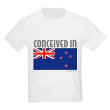 Conceived in New Zealand - Kids T-Shirt
