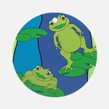 Two Frogs Pattern Ornament (Round)
