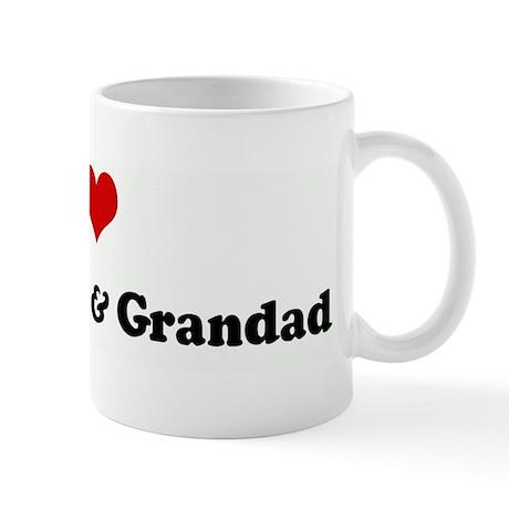 I Love Grandmom & Grandad Mug