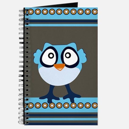 Cute Blue Owl Journal