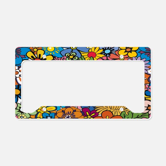 Flower Pattern License Plate Holder