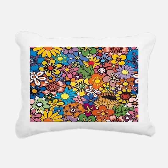 Flower Pattern Rectangular Canvas Pillow