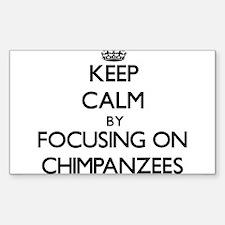 Keep Calm by focusing on Chimpanzees Decal