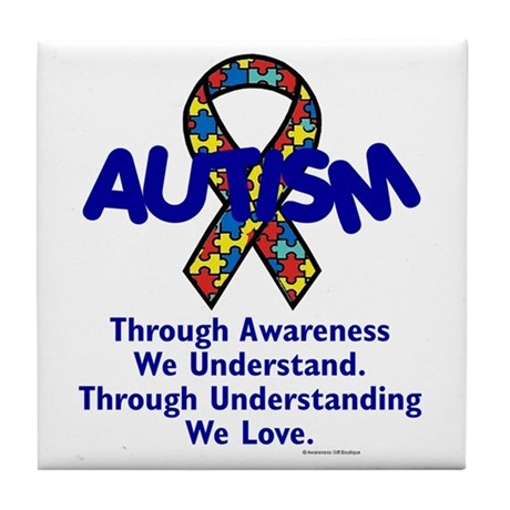 Autism Through Understanding Tile Coaster