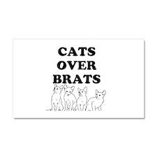 Cats Over Brats Car Magnet 20 x 12